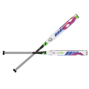 Wilson Demarini 2016 CF8 Fastpitch Bat (-11), White Electric Blue Bright Pink