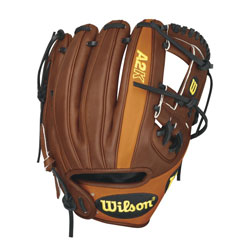 Wilson A2K Game Model Dustin Pedroia Infield Baseball Glove, Right Hand Throw, 11.5-Inch
